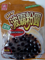 Black tapioca pearls