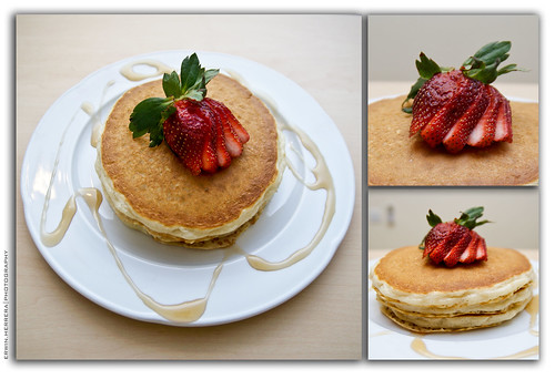 Strobist & Strawberry Pancakes
