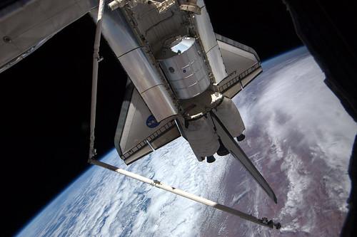 Leonardo in Discovery cargo bay