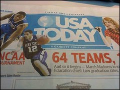 USA Today cover with Talor Battle