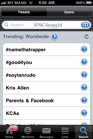 Kris Allen Twitter worldwide trending topic number 4