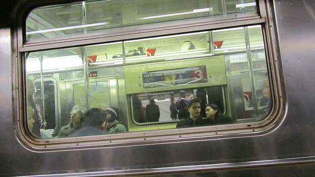 you never know what awaits in the subway.