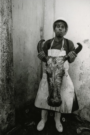 Mexican slaughterhouse worker