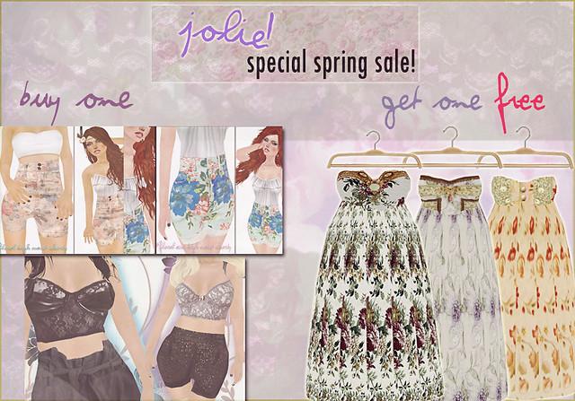jOLIE! Special  Spring Sale
