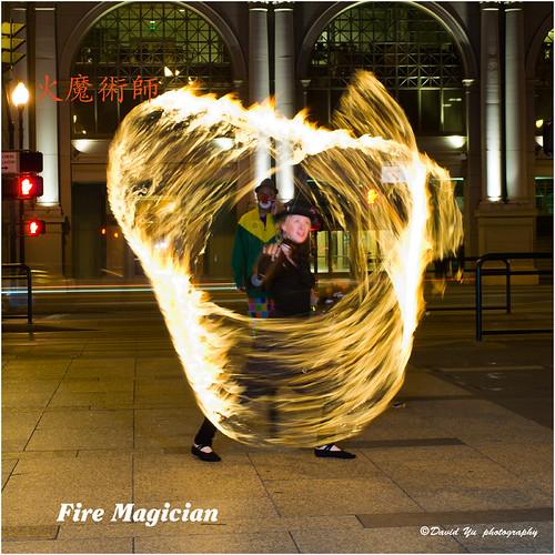 Fire Magician by davidyuweb