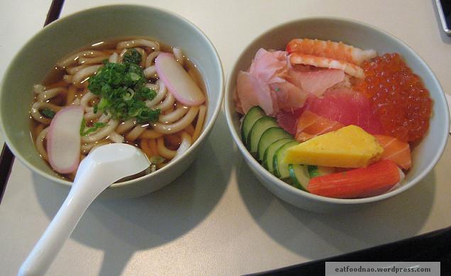 Chirashi don w/ udon