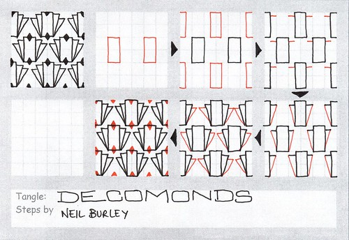 Decomonds - tangle pattern by perfectly4med