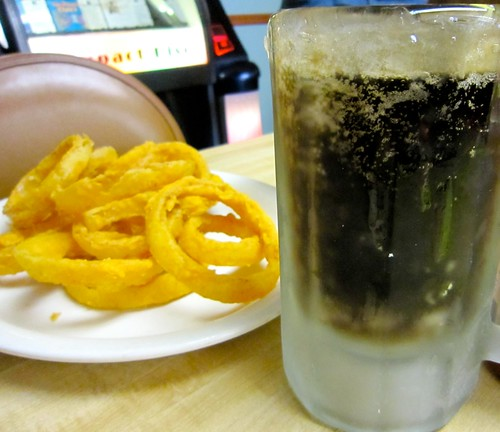 Homemade Onion Rings and A Frosty Mug of Root Beer YUM!