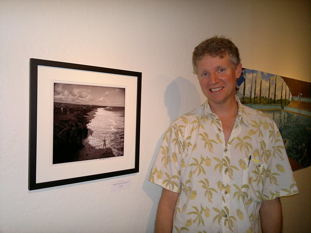 "Me with ""Self-Portrait, Kalapana"" at the EHCC Spring Arts Fest opening"