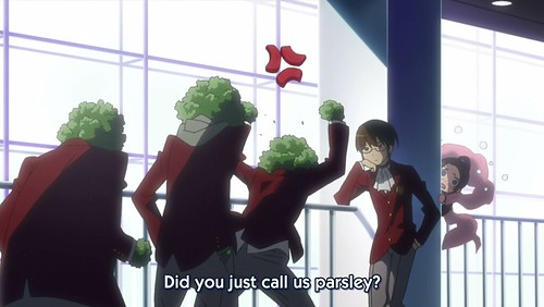 10. Cool pose by Keima.