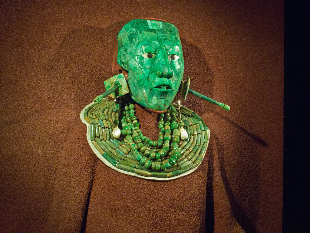 Jade death mask of Mayan ruler