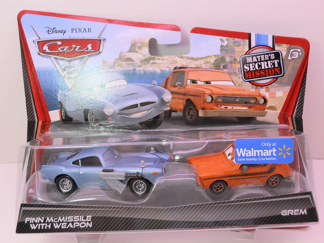 disney cars 2 finn mcmissle with weapons grem maters secret mission 2 pack (1)