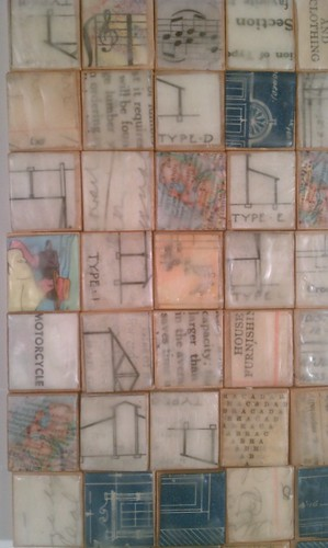 Encaustic collage teeny tile mosaic