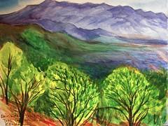 Sketch from Devisadero Peak