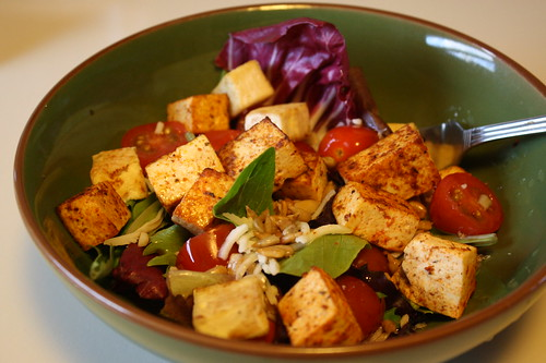 tofu and salad