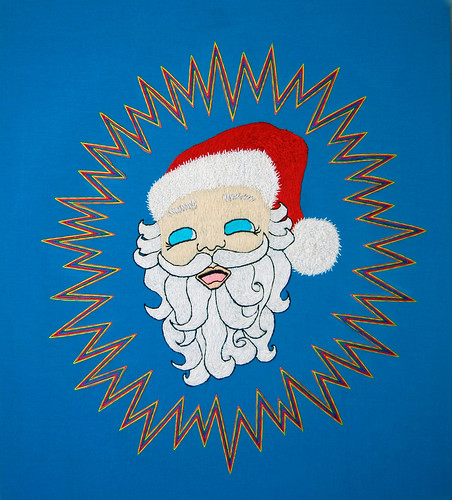 As of yet untitled Santa Claus/migraine aura piece