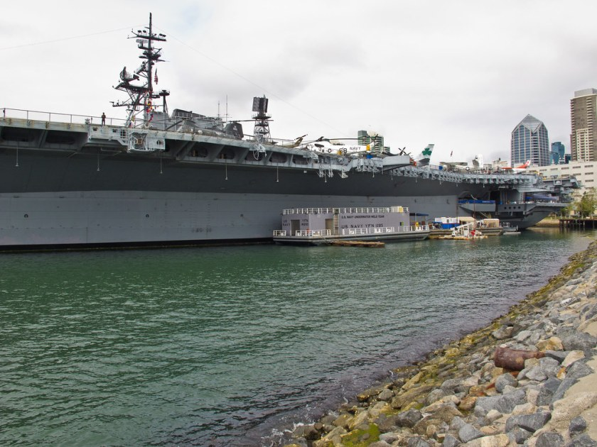 Preserved aircraft carrier