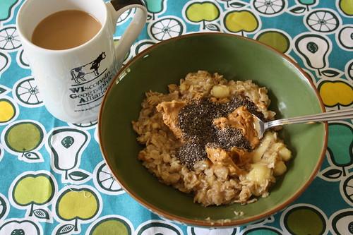 coffee, stovetop oats