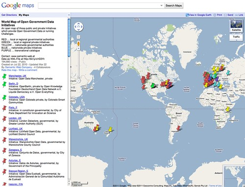 World Map of Open Government Data Initiatives