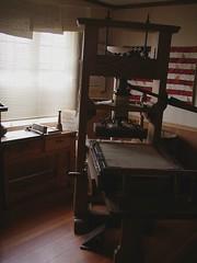 press in benjamin franklin room