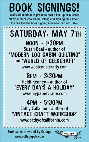 Author events at Crafty Wonderland!!!