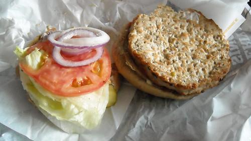 Carl's Jr. Charbroiled Turkey Burger Halves