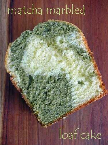 matcha marbled loaf cake
