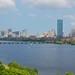 Boston skyline + sailboats