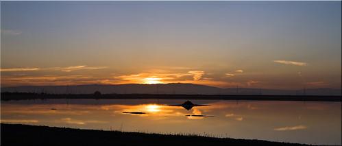 Panoramic Sunrise on the Salt Flats