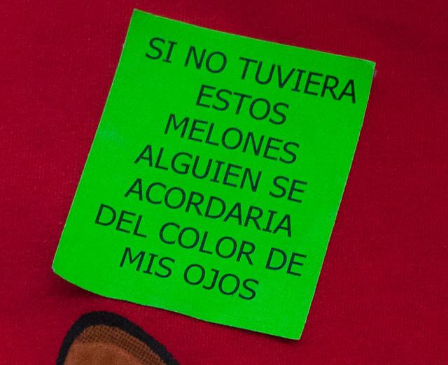 """Poesía sanjuanera: """"si no tuviera estos melones alguien se acordaría del color de mis ojos"""""""