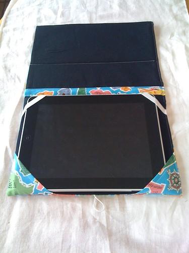 iPad case inside/flat