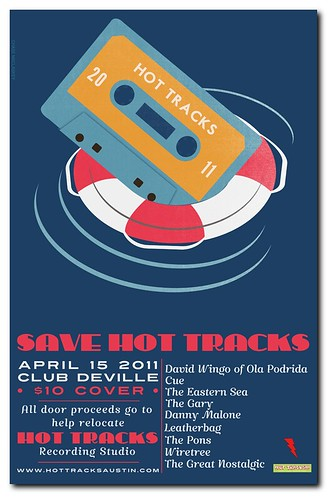 Save Hot Tracks Gigposter