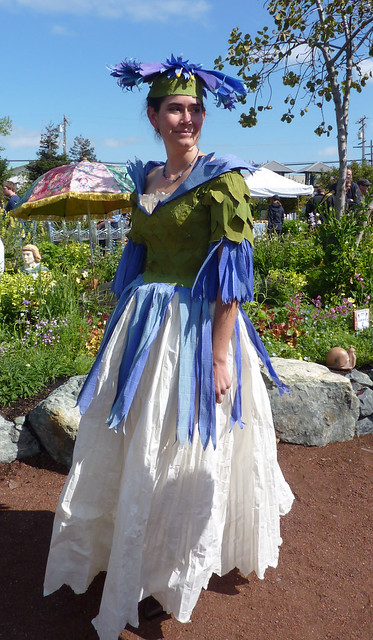 """Costume Winner ! """"Bachelor Button"""" dress made from crepe paper !"""