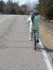 Sophia on the 1st Bike Ride of the Season