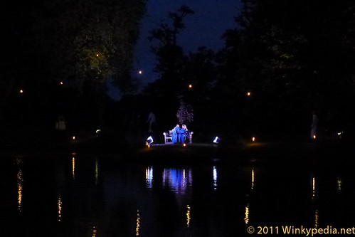 Alices sitting across the lake in Wonderland, Dining with Alice