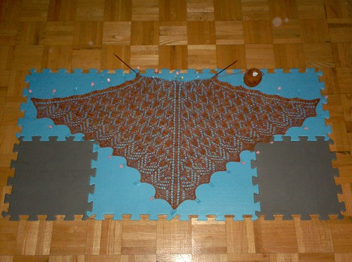 Lucky Penny Shawl - Clue 3 complete