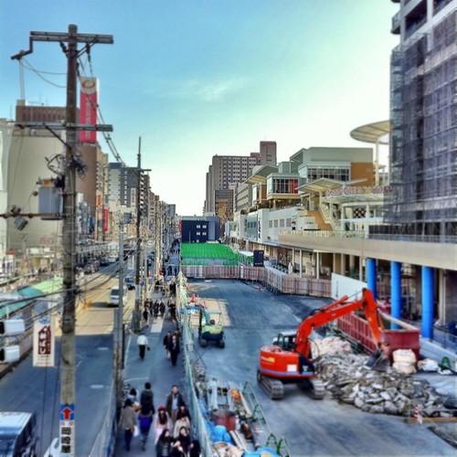 (^o^)ノ < おはよー! 天王寺Q'sモール、今週からちらほらお店がオープンするみたいだよ。 今日も笑顔で、がんばろ~! #Osaka #Abeno #morning