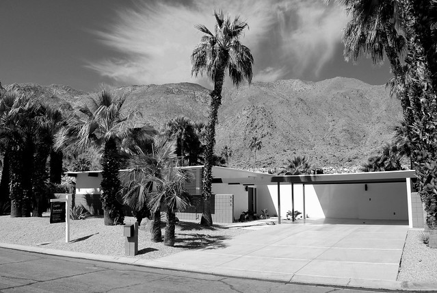 Street Elevation:  Awesome Mid-Century Modern Vista Las Palmas Home For Sale, Palm Springs CA
