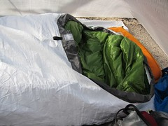 "Tyvek Bivy and Sleeping bag prototype • <a style=""font-size:0.8em;"" href=""http://www.flickr.com/photos/40286809@N02/5724583135/"" target=""_blank"">View on Flickr</a>"
