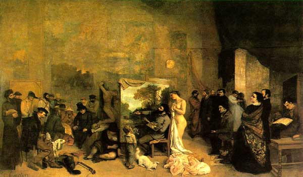 The Painter's Studio (1855) by Gustave Courbet