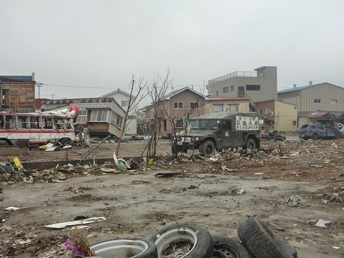気仙沼市幸町(震災復興ボランティア) Kesennuma, Miyagi pref. Deeply damaged coastal area by the Tsunami of Japan quake