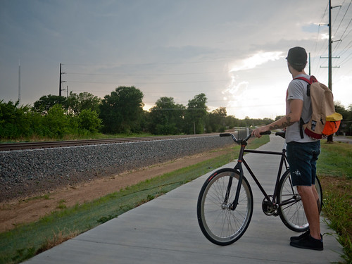 Drew Elam on Denton Rail Trail