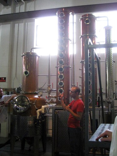 column still at great lakes distillery