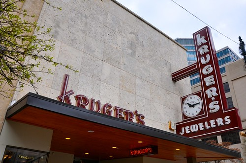 Kruger's Jewelers Clock and Facade
