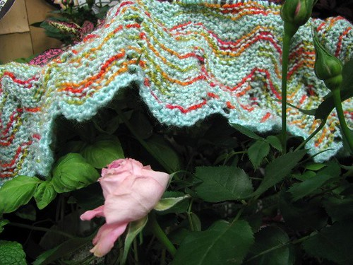 Ripple Baby Blanket Shop Sample