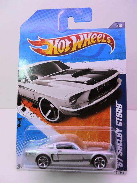 hot wheels '67 shelby gt-500 silver (1)