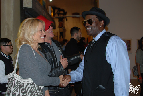 Pamela Anderson with Fab 5 Freddy