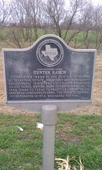 Gunter Ranch, Gunter, Texas Historical Marker