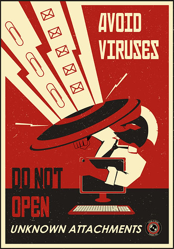 Avoid viruses, don't open attachments by stevethomasart
