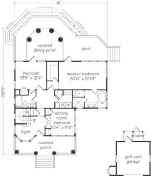 marsh house plan covered porch